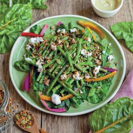 Салат с фасолью и мангольдом: рецепт приготовления