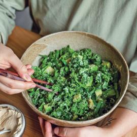 Сливочный салат с капустой кейл: рецепт приготовления