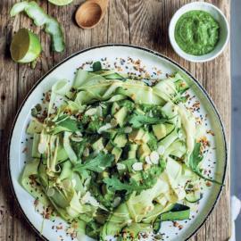 Цукини-паста с двумя видами соусов: рецепт приготовления
