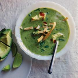 Зеленый суп с тортильей: рецепт приготовления для веганов