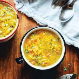 Чашка супа для иммунитета: рецепт приготовления для веганов