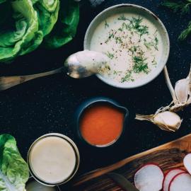 Заправка из сидра и подсолнечного масла: рецепт для веганов