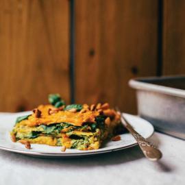 Лазанья с песто и тыквенным соусом: рецепт приготовления для веганов