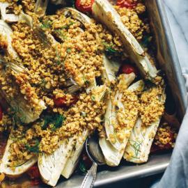 Гратен из помидоров черри и фенхеля: рецепт для веганов