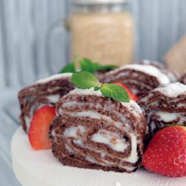 Шоколадный блинный рулет: рецепт приготовления
