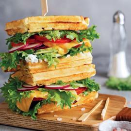 Вафельный сэндвич: рецепт приготовления