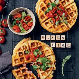 Вафли-пицца: рецепт приготовления