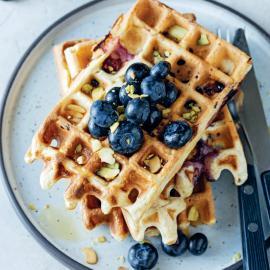 Вафли с голубикой: рецепт приготовления