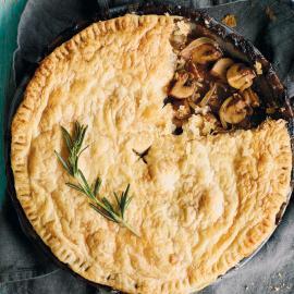 Пирог с грибами и пивом Guinness: рецепт приготовления для веганов