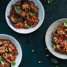 Красное ризотто с рататуем: рецепт приготовления для веганов