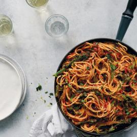 Быстрые спагетти «Путанеска»: рецепт приготовления